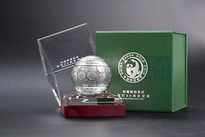 2017 China Panda Silver Sphere 1 Kilo  - 35th Anniversary of Gold Panda