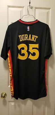 best sneakers dc41b 261aa NWT KEVIN DURANT #35 Golden State Warriors Chinese New Year Black Stitched  Men