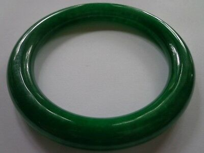 Antique Jade Bangle Bracelet 2.5 In