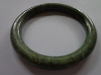 Antique Jade Jadeite Bangle Bracelet 2.5 In