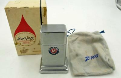 Vintage Zippo Mcdermott Oil Co Table Lighter In Box With Pouch