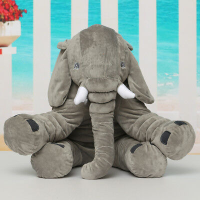 Large Soft Elephant Pillows Cushion Baby Plush Toy Stuffed Animal Kids Girl Gift