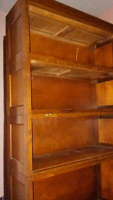 Globe Wernicke Antique Barrister  Bookcase Display Case Lawyer 4 Tier Shelf Oak