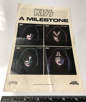 "Vintage 1978 KISS & Lego Ads Solo Releases Expert Builder Series Promo 10""x6.75"""