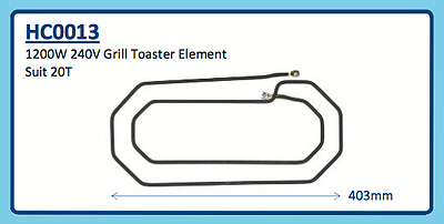 Roband 1200W 240V Grill Toaster Element Hc0013 20T