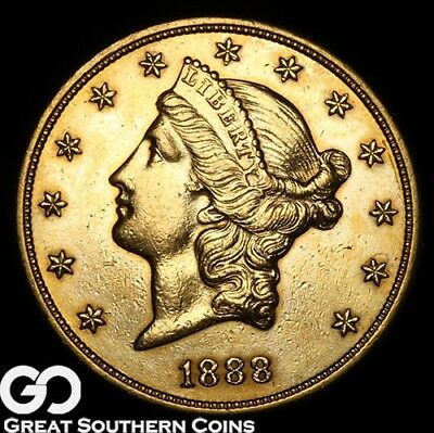 1888-S Double Eagle, $20 Gold Liberty ** Free Shipping!