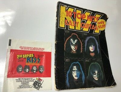 Vintage 1979 KISS Songbook Top 10 Hits Easy Guitar Solo Covers + Card Wrapper