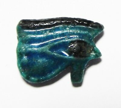 Zurqieh - As5936- Ancient Egypt,  Faience  Eye Of Horus Amulet. 1400 B.c
