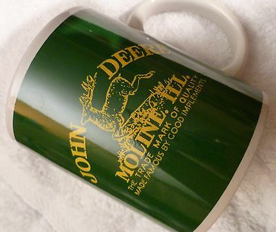 "John Deere Coffee Mug Cup Moline, Illinois by Gibson ""Nothing Runs like a Deere"""