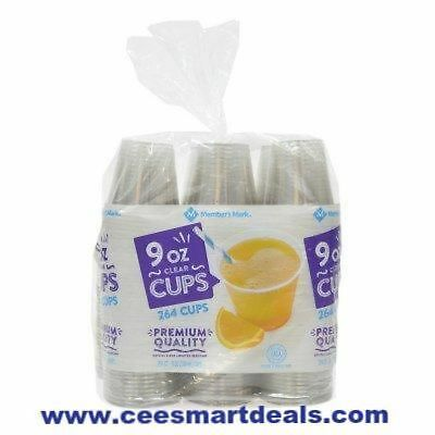 Clear Disposable Plastic Cups | 9 oz. | 264 Count Bulk Supply