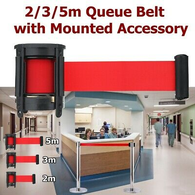 2m/3m/5m Queue Belt Retractable Crowd Control Barrier Ribbon Rope With Accessory