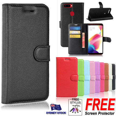 For Oppo A57 A73 R11S Plus R15 Premium PU Leather Wallet Flip Phone Case Cover