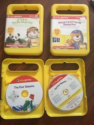 Baby Genius 3 DVDs & 3 Cds Classical Musical DVDs For Babies To See And Hear