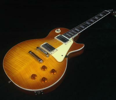1959 LP Electric Guitar Flamed Maple Top Veneer VS Color Free Shipping Cost