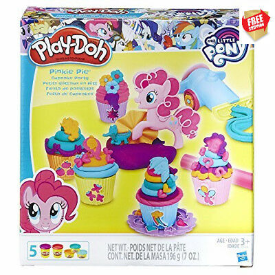Play Doh My Little Pony Pinkie Pie Cupcake Party inc 5 Tubs, Frosting Cannon
