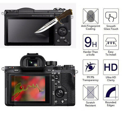 LCD Screen Protector Tempered Glass Film Cover For Sony Alpha A6000 RX100 A77