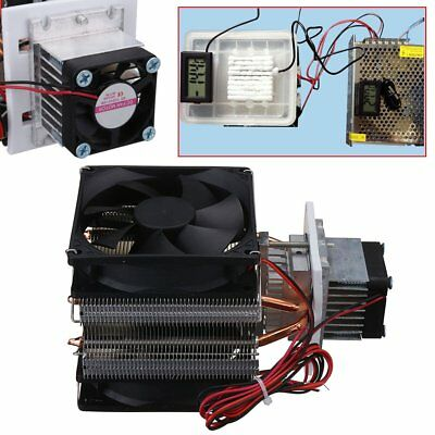 Thermoelectric Peltier 72W Refrigeration Semiconductor Cooling 2-Fan System KIT