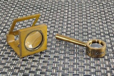 Carl Zeiss Jena Messing Lupe DDR Handlupe  Loupe