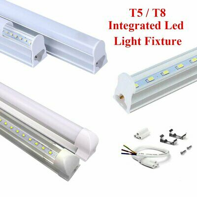 LED Integrated Light Single Fixture 4FT T5 T8 Led Tube Light  Led Shop Light
