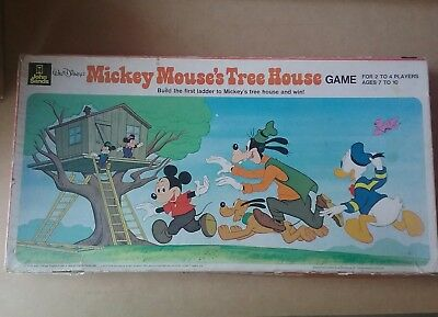 Vintage 1976 Walt Disney's Mickey Mouse's Tree House Game