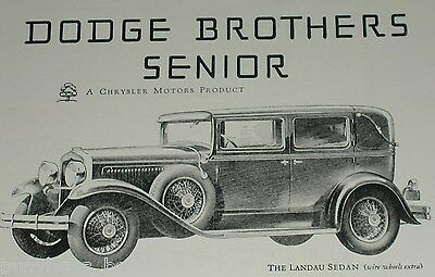 1929 Dodge Brothers advertisement, DODGE Senior Landau Sedan, vintage auto