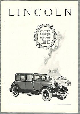 1926 LINCOLN Le Baron advertisement, Lincoln ad, Le Baron sedan
