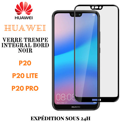 Verre Trempé Full Protection Total Film Ecran Bord Noir Huawei P20/LITE/PRO