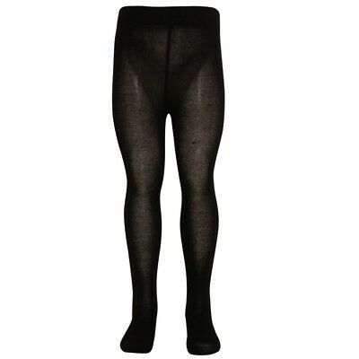 Mopas Little Girls Black Opaque High Waisted Stretchy Footed Tights 4-6