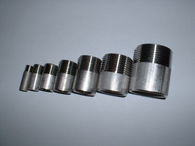 "3//8/"" BSPT Close Taper Nipple X 25MM 316 Stainless Steel 150LB Pipe Fitting"