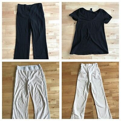 Maternity bundle size 10 Next tracksuit bottoms h&m white jeans trousers black