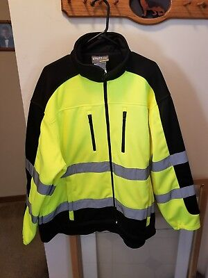 Utility Pro Men's Class3 High Vis Softshell Jacket w/Teflon Fabric Protector 2XL
