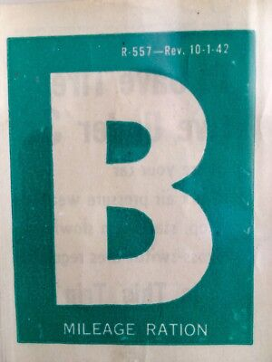 WWII Mileage Ration Business Vehicle Sticker