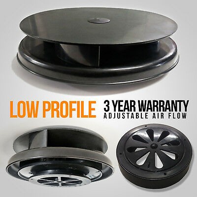 Wind Driven BLACK Van Roof Vent Rotating Dog Pet Horse Vehicle 4x4 Air Rotary