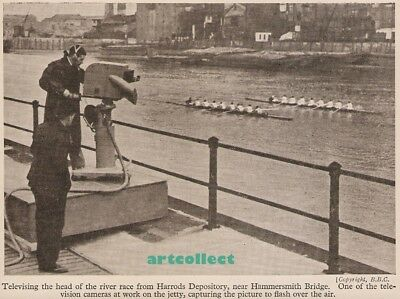Vintage Image: Televising the Head of the River Race. Rowing. Television.