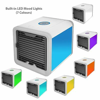 Air Cooler Personal Space Humidifier Purifier Fan Control Mood Light Cube