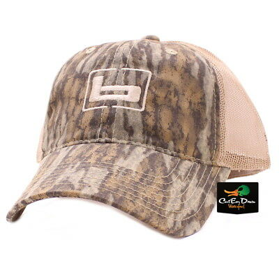 NEW BANDED GEAR TRUCKER CAP HAT BOTTOMLAND CAMO TAN MESH W