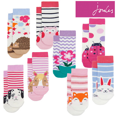 Joules Baby Neat Feet 2 Pack Character Socks (Z)