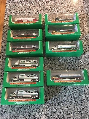Collection of Hess Miniatures 1998-2004