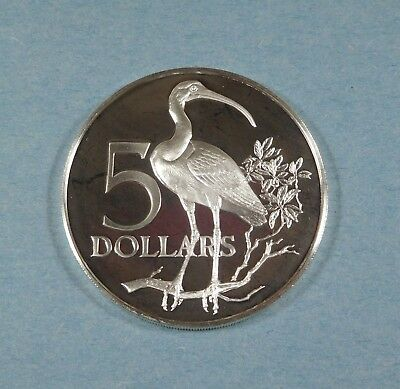 1979 TRINIDAD & TOBAGO 5 DOLLARS - Silver - PROOF