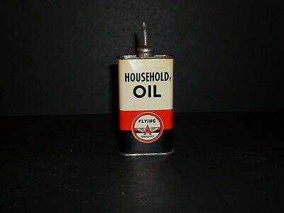 Flying A Handy Oiler Household Oil Can Lead Top