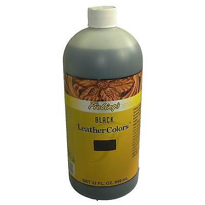 Fiebing's LeatherColors Leather Dye Black 32 oz 946 mL Bottle