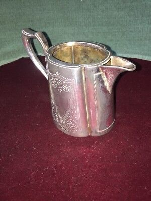Antique Victorian Silver Plate Milk Jug
