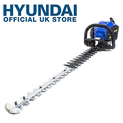 "Hyundai 26cc Petrol Hedge Trimmer 28"" Blade Double Sided Hedge Trimmer HYT2622-3"