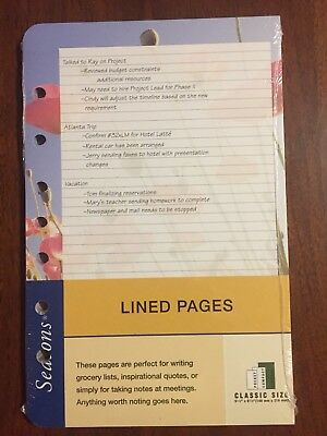 Franklin Covey Classic Blank Pages Seasons Brand New