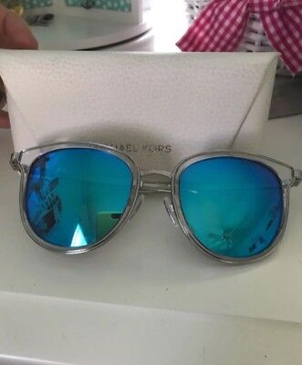 Michael Kors blue mirrored sunglasses