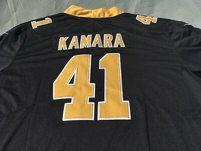 outlet store 55270 cd3b6 ALVIN KAMARA JERSEY #41 New Orleans Saints Nike Game Jersey Black Men XXL  NWT