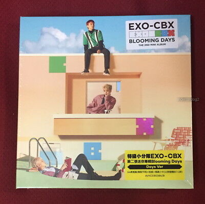EXO-CBX Mini Album Vol. 2 Blooming Days (Days Ver.) Taiwan CD+64P+sticker+Card
