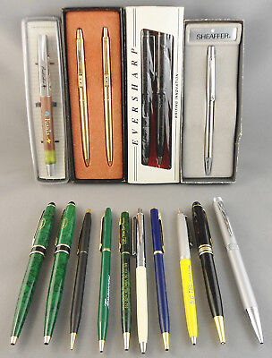 Vintage Ballpoint Pen Pencil Lot 28 Pieces Paper Mate Parker Sheaffer Cross +++