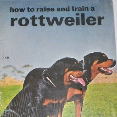 Vintage TFH Dog Book - How to Raise and Train a Rottweiler - Sealed 1970