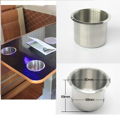 68mm Stainless Steel Boat RV Camper Cup Drink Holder Easy to Clean Up